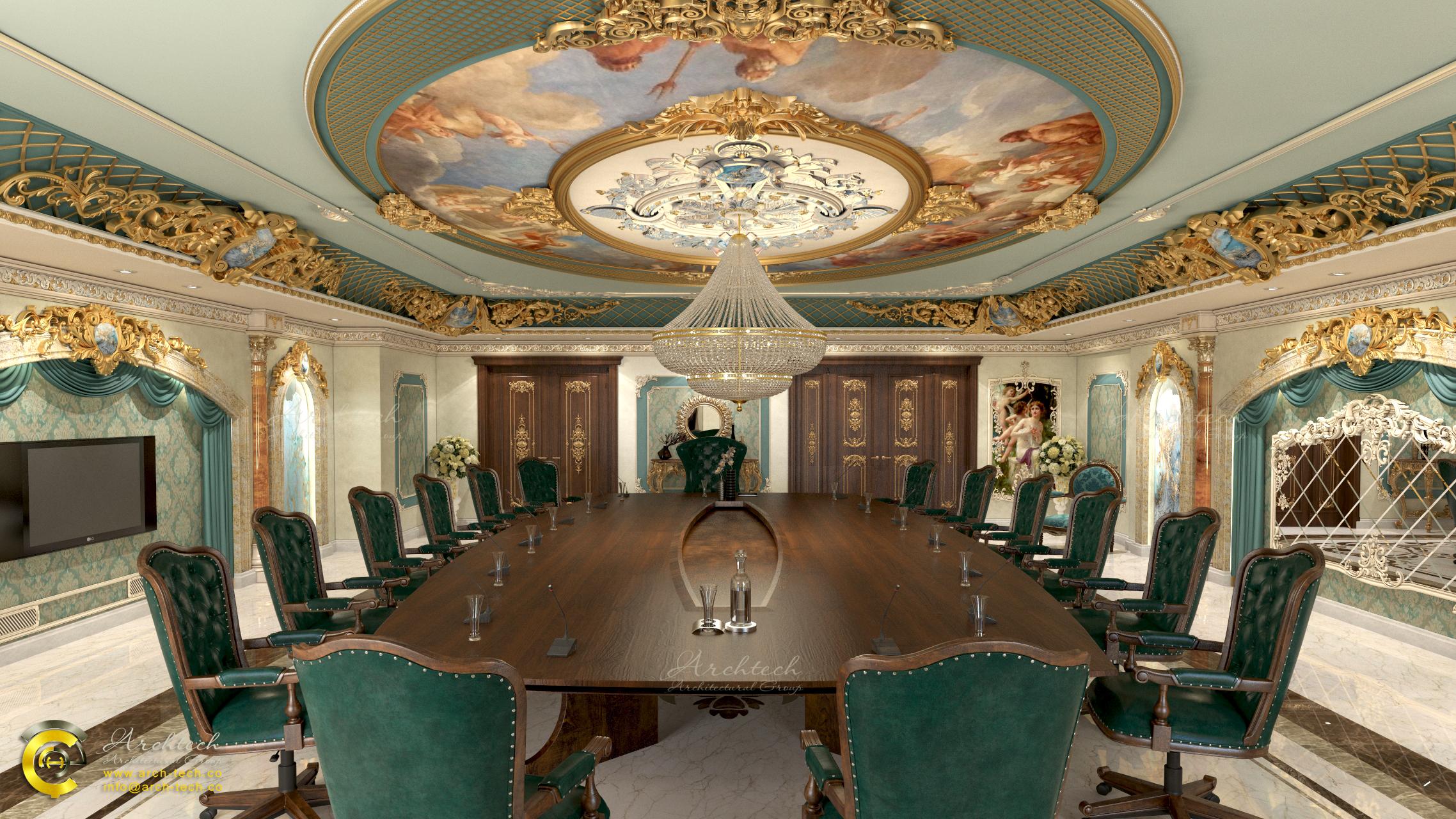 سالن کنفرانس VIP با سبک کلاسیک-گروه معماری آرک تک