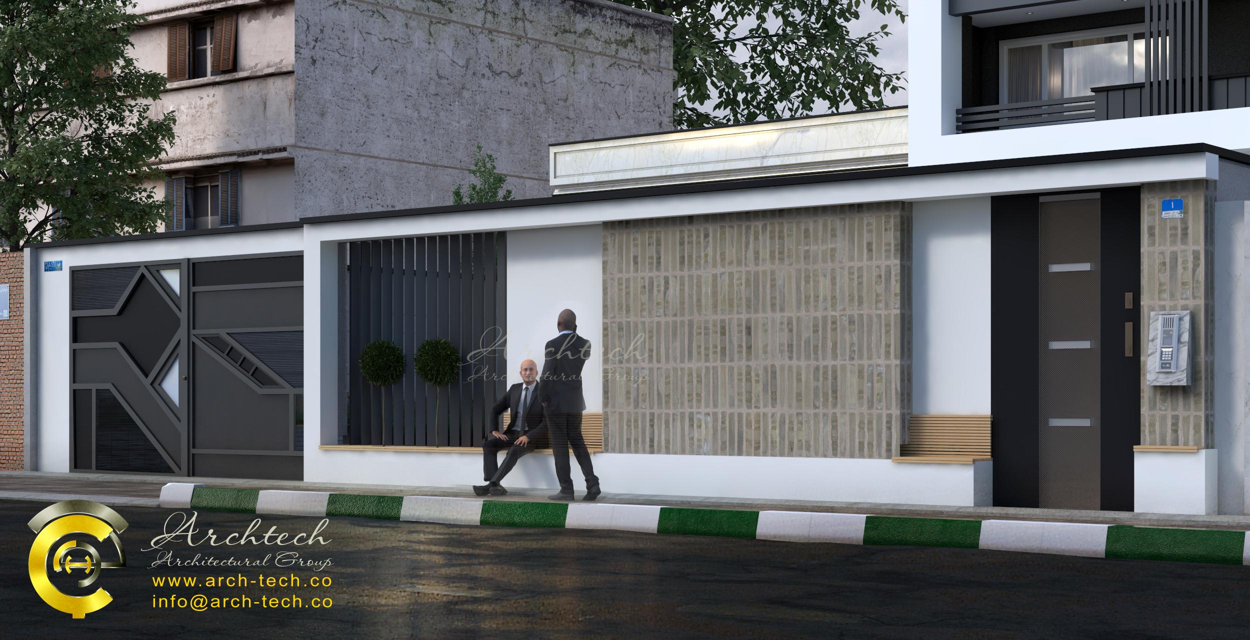 نمای مدرن-گروه معماری آرک تک