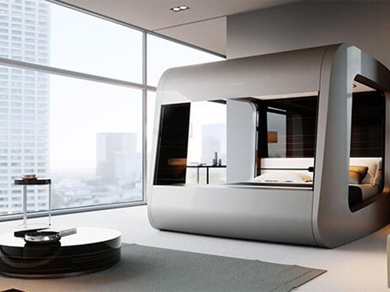 اتاق خواب ساختمان هوشمند