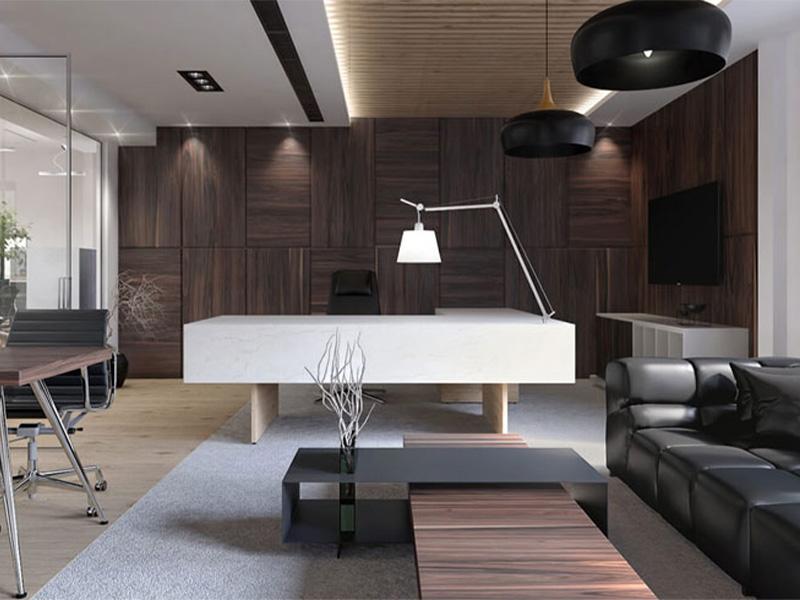 طراحی داخلی مدرن دفتر کار
