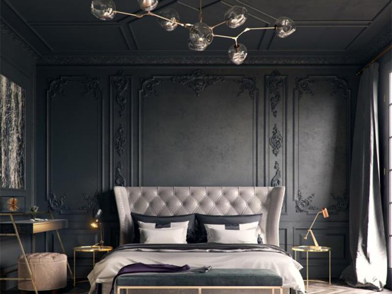 اتاق خواب به سبک نئوکلاسیک