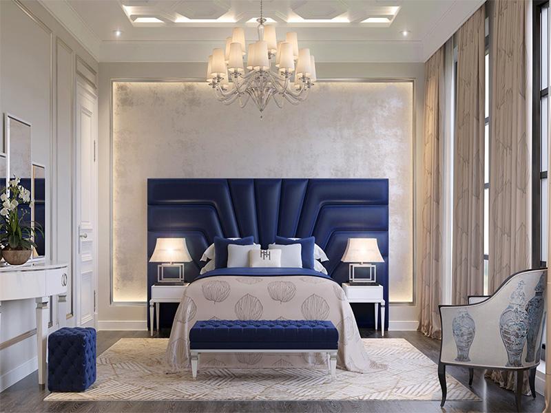 استفاده از تزئینات ساده در اتاق خواب به سبک نئوکلاسیک