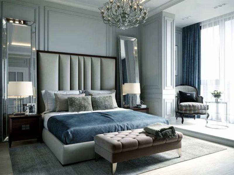 انتخاب رنگ اتاق خواب به سبک نئوکلاسیک