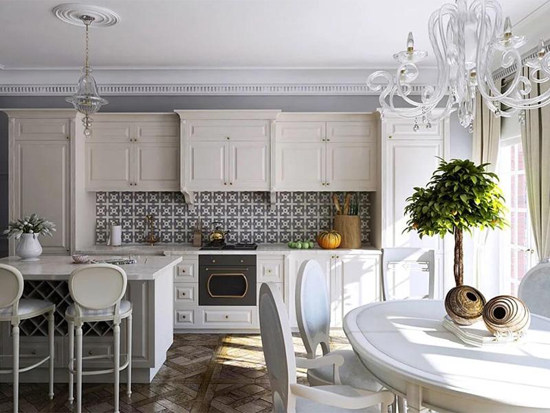 دیزاین آشپزخانه نئوکلاسیک