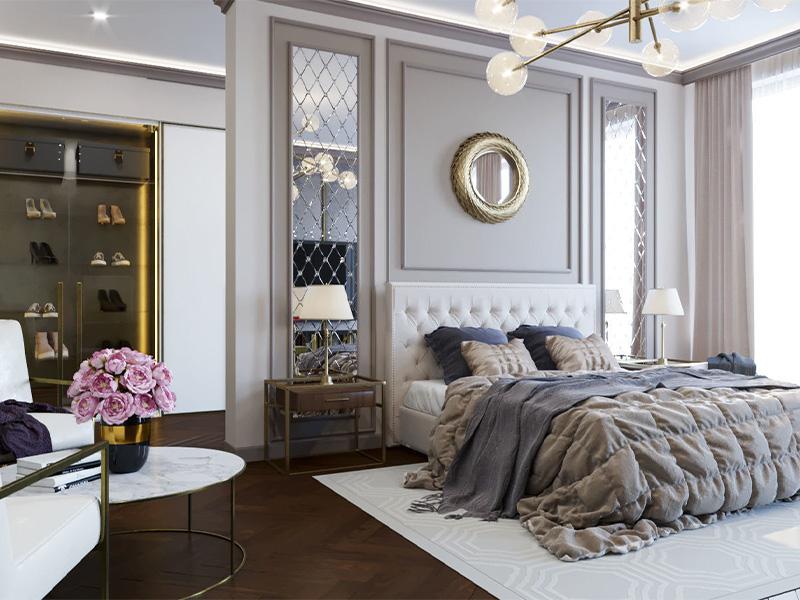 وسایل ضروری در اتاق خواب به سبک نئوکلاسیک